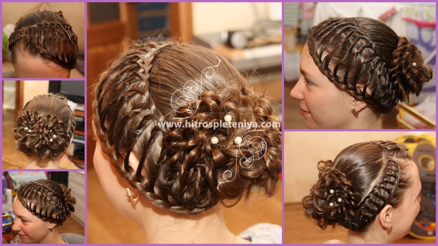 Пошаговое плетение косичек прически на длинные волосы.