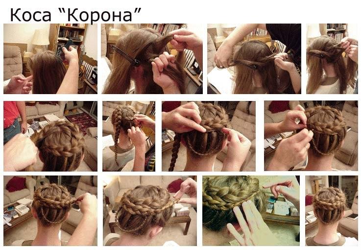 Фото пошаговое плетения косы