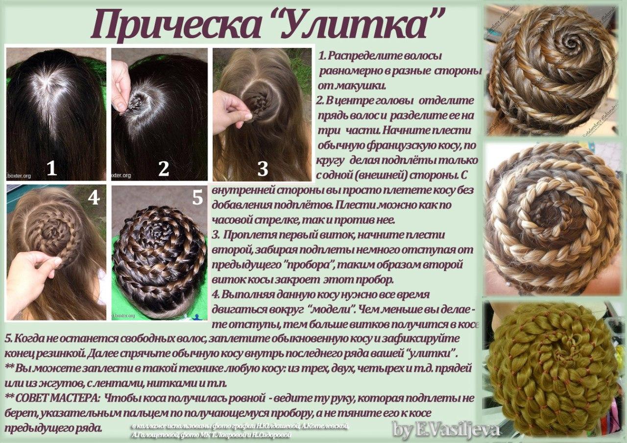 Плетение волос со схемами