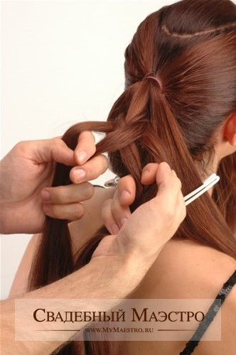 бальные прически для длинных волос.