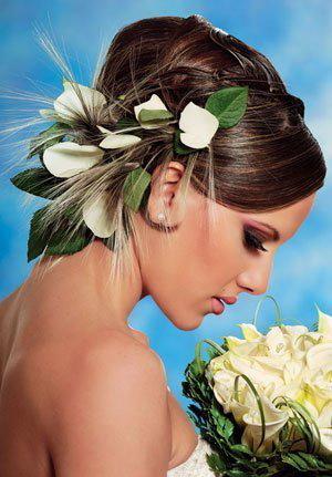 Живые цветы в прическу без обработки курьерская доставка букетов цветов oring-23